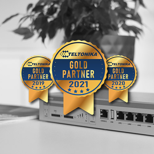 We won the TELTONIKA GOLD PARTNER award once again!